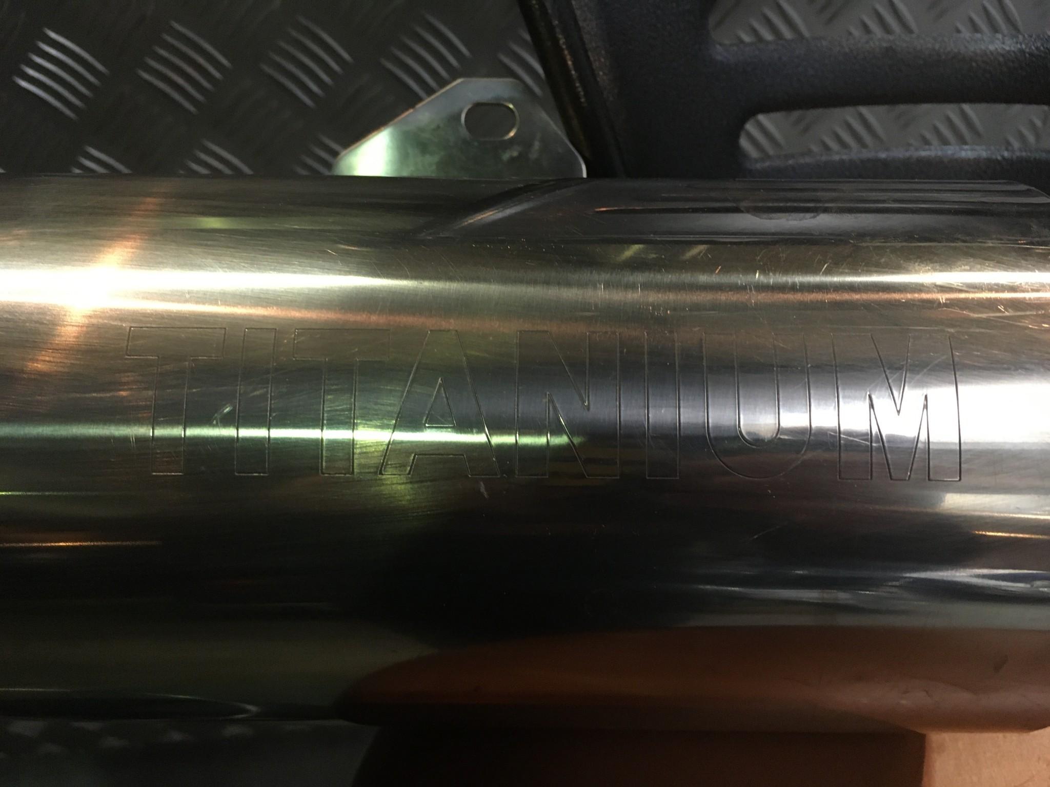 KAWASAKI ZX9R Originele titanium uitlaat